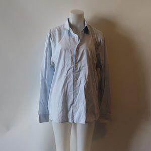MICHAEL KORS CHECK PATTERN TAILORED DRESS SHIRT L*